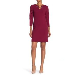 NWT Tommy Hilfiger Chain Accent Long Sleeve Dress